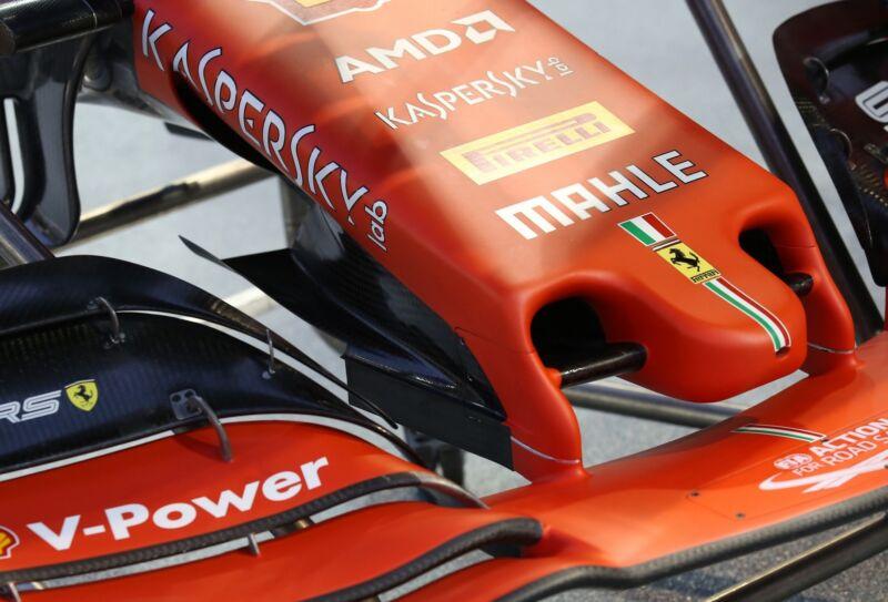 GP Singapore: la Ferrari introduce una novità sul muso
