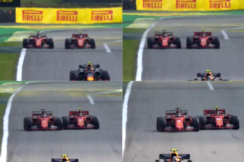 Vettel nega di aver sterzato verso Leclerc