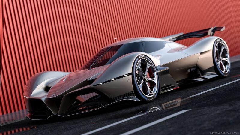 Alfa Romeo 8C-R Tazio: il render di una Hypercar per il WEC