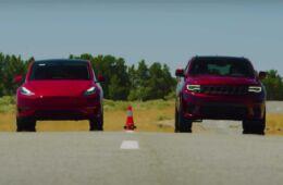 Tesla Model Y vs Jeep Grand Cherokee Trackhawk