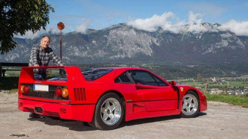 Ferrari F40 di Gerhard Berger