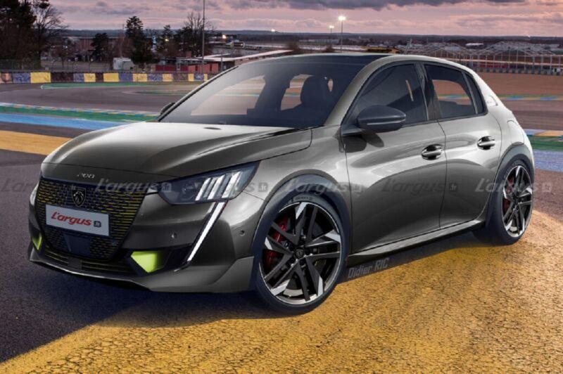 Peugeot 208 PSE: spuntano nuovi render sulla variante GTi elettrica