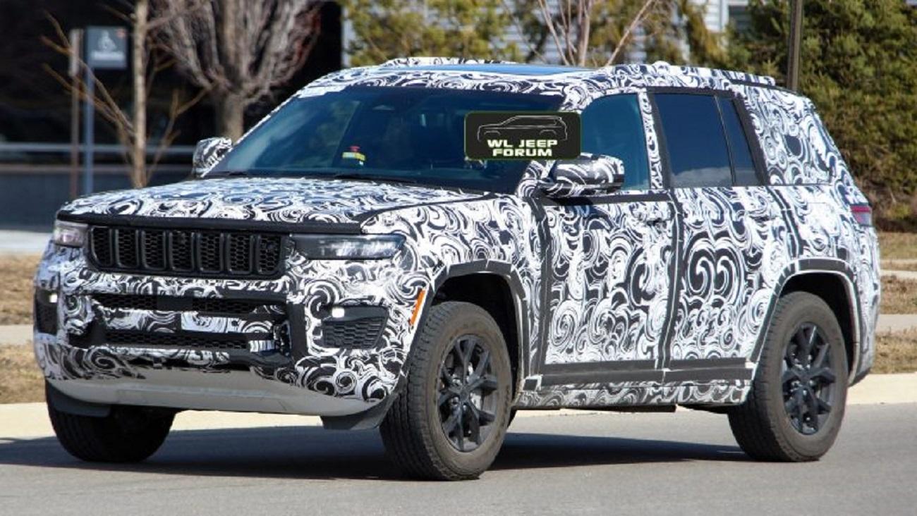 Jeep Grand Cherokee 2022 avvistata durante i test su strada