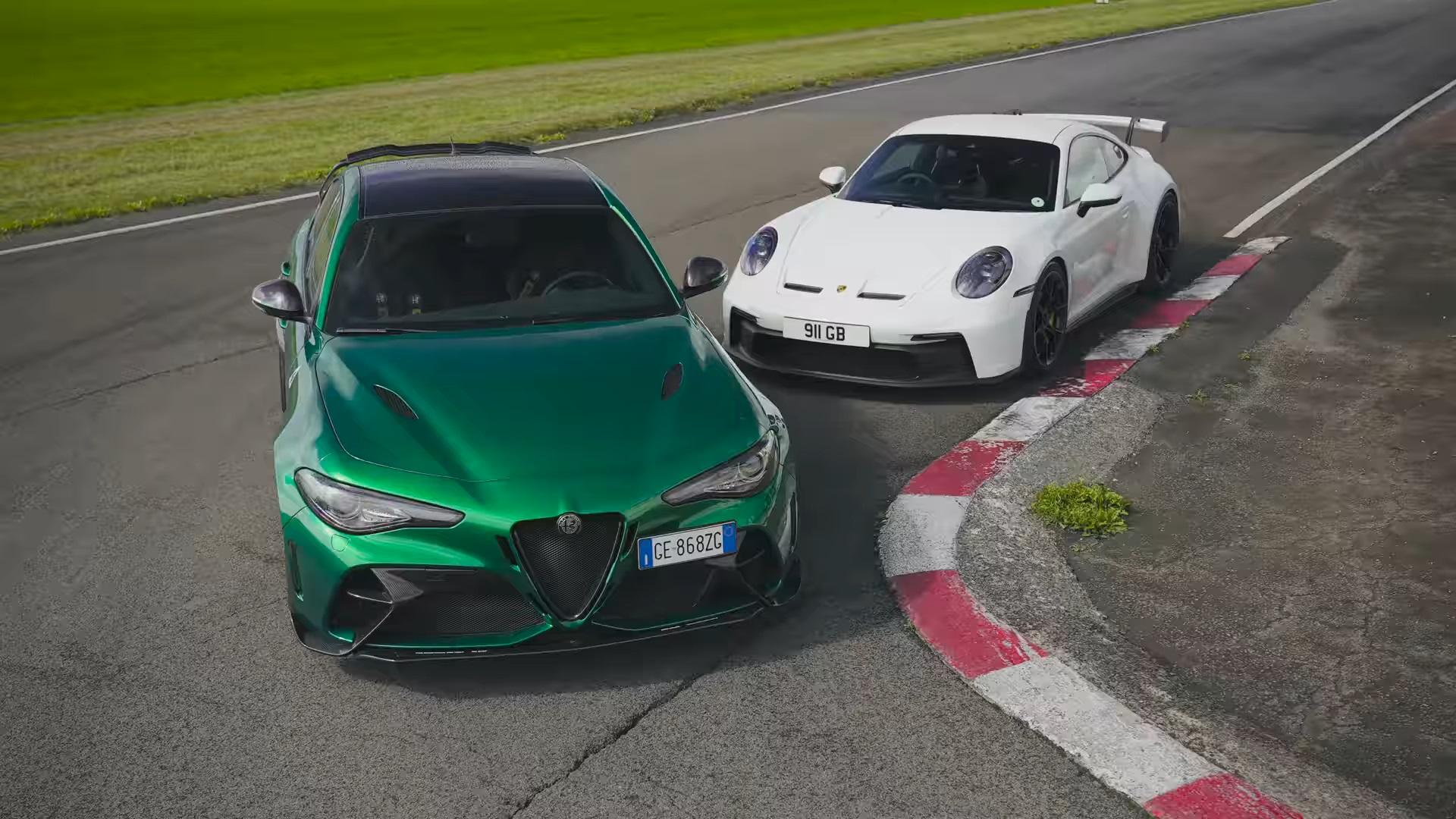 Alfa Romeo Giulia GTAm Porsche 911
