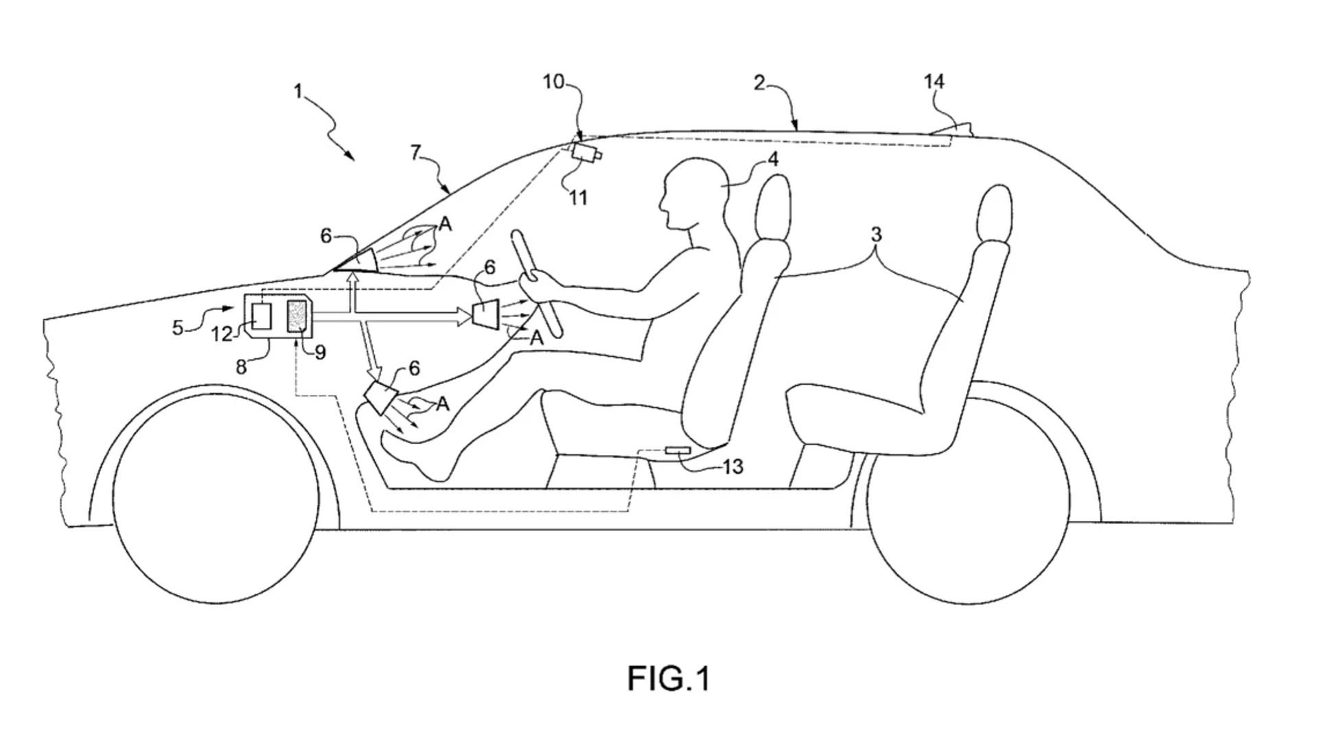 Il brevetto Ferrari mostra il sistema di climatizzazione del futuro
